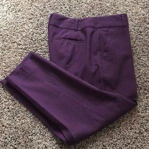 Loft - plum ankle pants